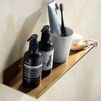 New Brass Antique Wall Shower Caddy Bath Basket Storage Shelf Hanging Organizer