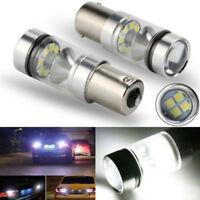 100W 2X 1156 BA15S 382 P21W CREE XBD WHITE LED STOP REVERSE LIGHT CANBUS Bulbs @