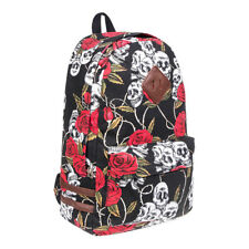 Blue Banana Black Red Rose Skull Alternative Rocker Backpack Rucksack School Bag
