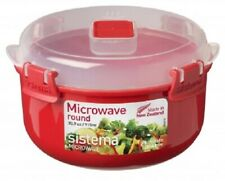 Sistema 915ml Round Bowl Removable Steaming Container Microwavable Lunch Box