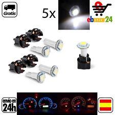 5x LED BLANCA BLANCO luz 12 V Panel de Control cuadro bombilla PC74 T5 Coche  *E