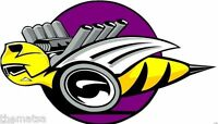 DODGE SUPER BEE ROLLING HARD HAT HELMET TOOLBOX BUMPER STICKER DECAL MADE IN USA