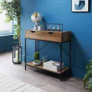 Tromso Console Table W/Drawers&Shelf Hallway Hall Table Dressing Table Furniture