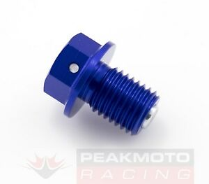 ZETA ZE58-1522 Magnetic Drain Plug Blue M12x15mm 1.5mm Pitch Kawasaki KLX110