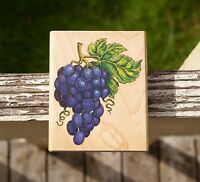 Grapes Wood Mounted Rubber Stamp by Rubber Stampede # A897F