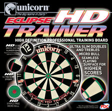 UNICORN ECLIPSE HD TRAINER DARTBOARD Steel Tip Bristle Dart Board