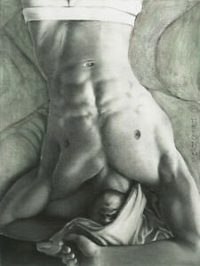 PRINT of Artwork Drawing Painting Male Gay Interest MCicconneT ~ ANTICIPATED