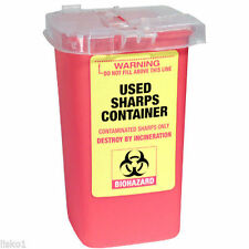 Fantasea Used Sharps Container 1 Liter Capacity for Used Razor Blades