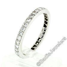 18k White Gold 1.19ctw Pave Set Round Diamond Eternity Wedding Stack Band Ring