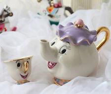 Die Schöne Und Das Biest Mrs.Potts Pommes Teekanne Tasse Becher Set Keramiks**