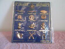 IRAQ/IRAQI MILITARIA UNIT/CORPS PINS/INSIGNIAS