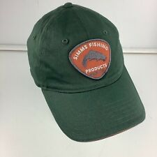 Simms Fishing Products Green Light Weight Baseball Cap Hat Trout Logo Patch