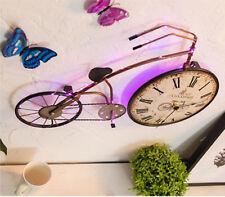 D84 Bicycle Pink Metal Length 58CM Home Bedroom Decoration Artware Wall Clock A