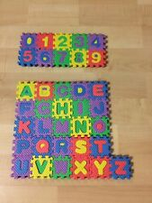 FOAM BABY MINI PLAY MAT ALPHABET -NUMBERS 36 PIECES