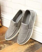 Mens Summer Canvas Breathable Slip On Sneakers Loafers Leisure Shoes Casual
