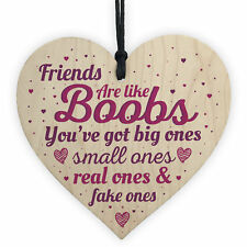 Friendship Gifts Best Friend Gift Wooden Heart Sign Birthday Christmas THANK YOU