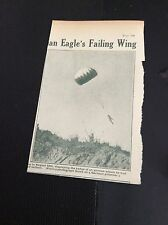 M5-6 ephemera  WW1 1918  picture german pilot parachutes to safety