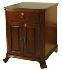 MONTEGUE 1500 Cigar End Table Cabinet Humidor French Walnut w/ Cherry Top #345