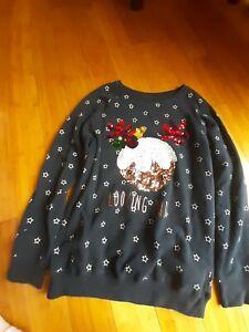 Girls 13 Years Next Navy Christmas Sweatshirt