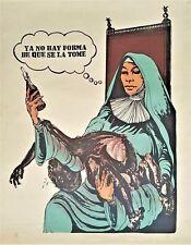 Cuban Art. Lithography by Tomas Borbonet. Ya no hay forma de que se la tome,1969