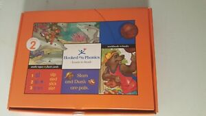 HOOKED ON PHONICS Level 2 BOX Reading w/Cassette Tape, Books, Learn Read Sealed