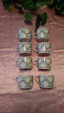 Pfalzgraff Country Market cups set of 8 porcelain blue