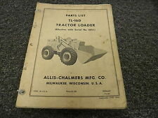 Allis Chalmers TL16D Tractor Loader Bucket Parts Catalog Manual Book S/N 1801-Up