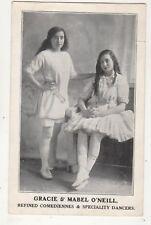 Gracie & Mabel O'Neill Comediennes & Dancers Vintage Postcard 685b