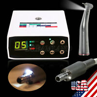 Dental Brushless Electric LED Micro Motor/1:5 Fiber Optic Handpiece Contra Angle