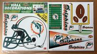 Miami Dolphins NFL Football self-stick WALL DECORATIONS by Color Clings
