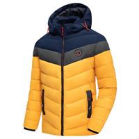 Mens Winter Jacket Full Zip Up Outdoor Waterproof Warm Parka Coat Thick Outwear