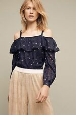 NWT SZ M ANTHROPOLOGIE STARLIT OFF THE SHOULDER TOP BY FLOREAT TANK TEE STARS