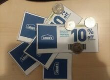 (5 qty)-Lowes 10%-Off/Coupons-Expires On 05-31-18 / Sent via US MAIL