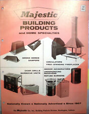 MAJESTIC Building Products Catalog Chimney Roof Insulation Fyrex ASBESTOS 1960's