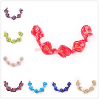 Flower Leaf Lampwork Glass Loose Spacer Beads Jewelry Making Craft Finding 20mm