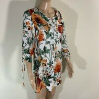 Anthropologie Fig and Flower BOHO Long Tunic Blouse Top S