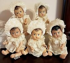 Antique Dionne Quintuplets Composition Madame Alexander Dolls 1930s VHTF