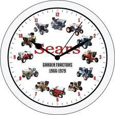 Sears Suburban Craftsman Garden Tractor Mower Wall Clock white SS  ST 10 16 19
