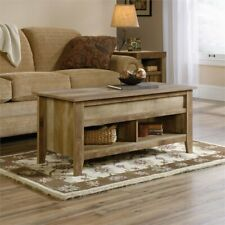 Modern Industrial Wooden Lift-Top Coffee Table Pop Up Table Storage Oak Finish