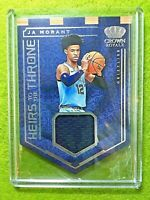 JA MORANT JERSEY ROOKIE CARD RELIC RC - 2019-20 Panini Crown Royale GRIZZLIES SP
