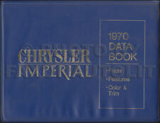 1970 Chrysler Imperial Data Book Color and Upholstery Dealer Album LeBaron Crown