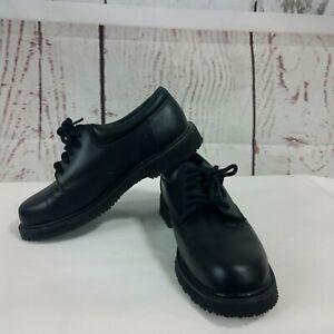 Mens Safetrax Non Skid Slip-on Shoe-Style 20867-Black  81E kl New