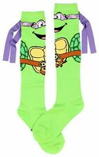 DONATELLO TEENAGE MUTANT NINJA TURTLE TMNT LADIES 9-11 OR MEN'S 5-10 SOCKS KNEE