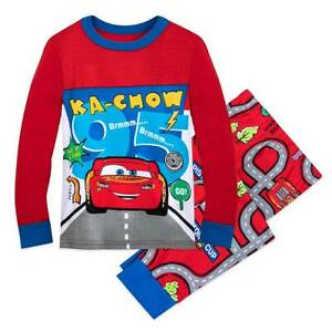 New DISNEY STORE Lightning McQueen Boys Pajamas PAL Set Cars
