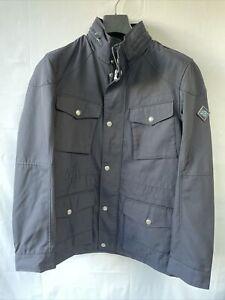 Hacket London Designer Mens Velospeed Biker Jacket Navy Size Medium