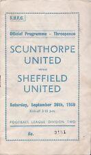 Scunthorpe United v Sheffield United,  Division 2,  26/9/1959