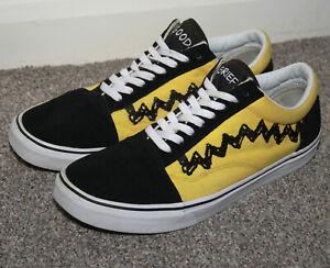 Men's Old Skool Trainers Peanuts Charlie Brown Black-Yellow UK 12 EUR 47
