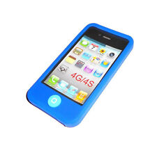 NEW DARK BLUE SILICONE RUBBER GEL APPLE IPHONE 4 4S CASE BUY ONE GET ONE FREE