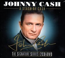 JOHNNY CASH - A STASH OF CASH (NEW SEALED 2CD & DVD) THE SIGNATURE SERIES