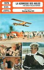 FICHE CINEMA : LA KERMESSE DES AIGLES - Redford,Sarandon 1975 Great Waldo Pepper